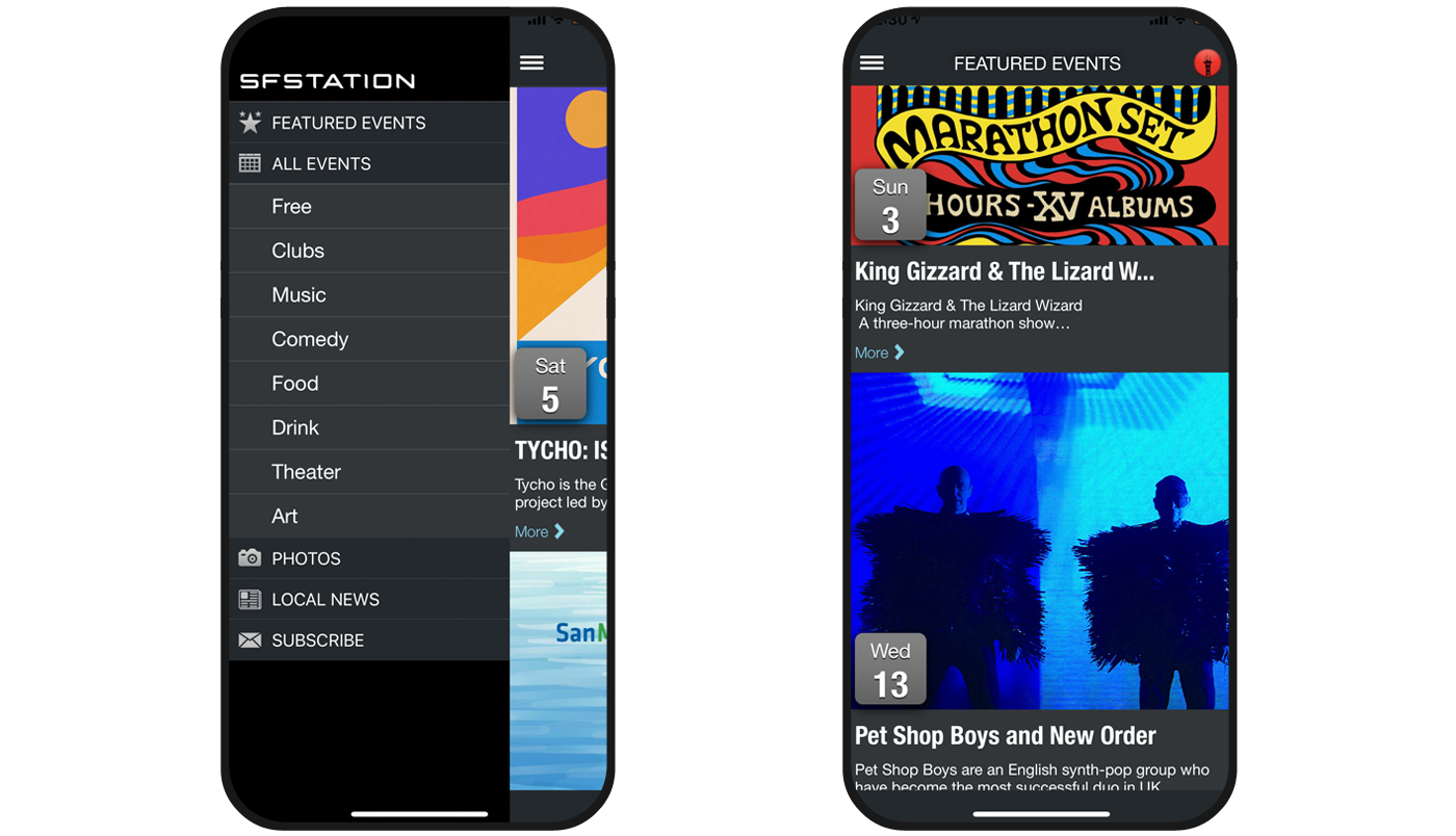 Mobile App for San Francisco Events