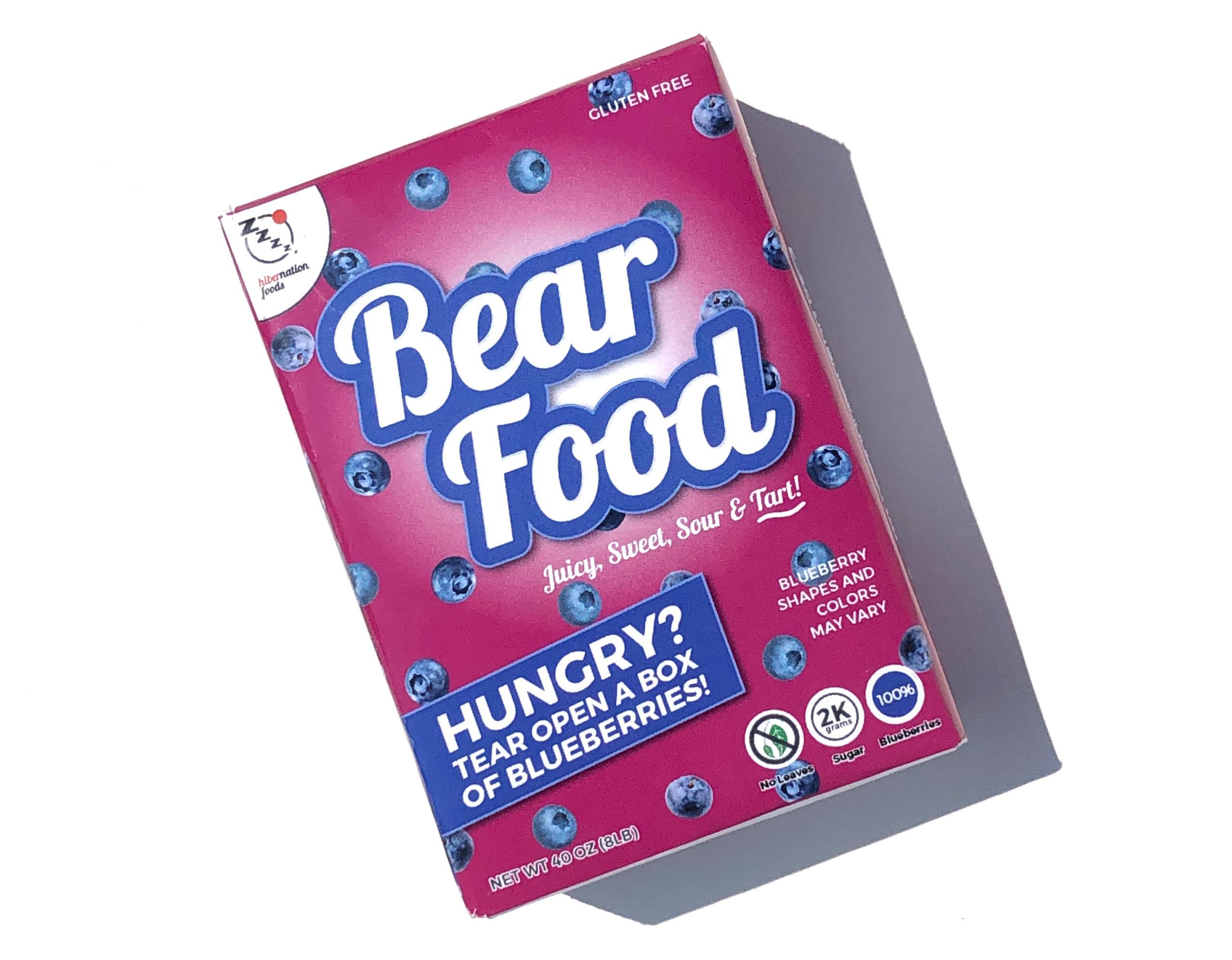 Bear Food Mini Cereal Box
